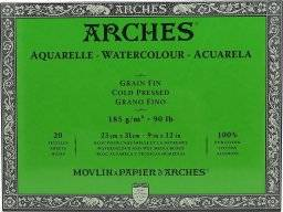 Aquarelblok 185 gram Grain Fine   Arches