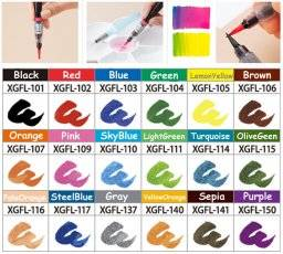 Color brush penseelstift   Pentel
