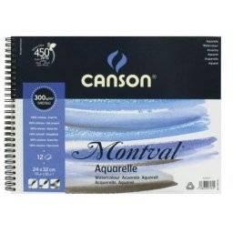 Montval aquablok 300grs spiraal | Canson