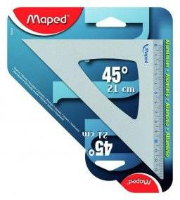 Tekendriehoek 45° alu 120421 | Maped