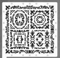 Scrapboss stencil 6617 heritage