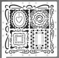 Scrapboss stencil 6619 mistical