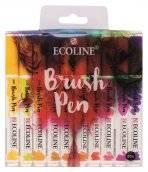 talens ecoline brush pen set 20 kleuren
